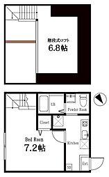 ハーミットクラブハウス逗子1階Fの間取り画像