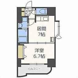 北海道札幌市中央区南四条西6丁目の賃貸マンションの間取り