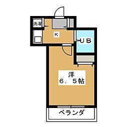 ジョイフル御池[4階]の間取り