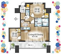 ワイドスパンな間取りで開放感があるお部屋です。シューズインクロークやウォークインクローゼット、リビングには床暖房と設備も整っています。