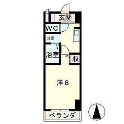 グレースフル18[2階]の間取り
