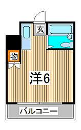 ライフステージ中浦和[2階]の間取り