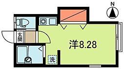 AZUMI−SOU[201号室]の間取り