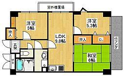 翠生園マンション[2階]の間取り
