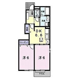 パレロワイヤル[1階]の間取り