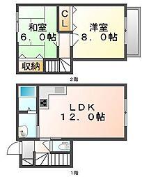 [テラスハウス] 香川県高松市中間町 の賃貸【/】の間取り