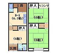 [一戸建] 京都府長岡京市今里 の賃貸【/】の間取り