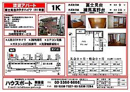 富士見台カラタハイツ[101号室]の間取り