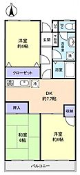 アドリーム幕張本郷吉野[5階]の間取り