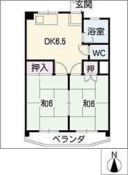 五藤ビル杁中[4階]の間取り
