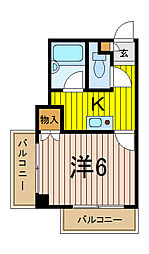 SUNMALL蕨[2階]の間取り
