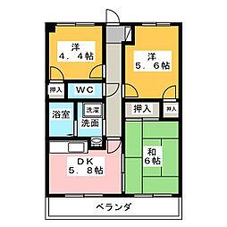 フロントヒルズIII[3階]の間取り