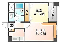 ルーデンスプレイス東札幌[606号室]の間取り
