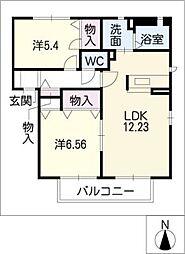 エクレールM[1階]の間取り