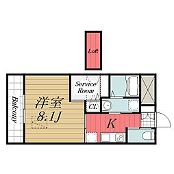 京成本線 公津の杜駅 徒歩8分の賃貸マンション 1階1SKの間取り