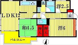千葉県松戸市日暮7丁目の賃貸マンションの間取り