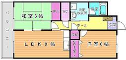 ルネッサンス宮ノ尾Ⅰ[2階]の間取り