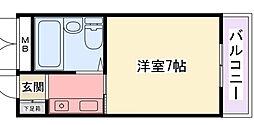 ジョイフル香枦園[103号室]の間取り