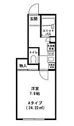 東京都江戸川区西葛西1丁目の賃貸アパートの間取り