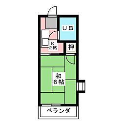 タウニィ新瑞[2階]の間取り