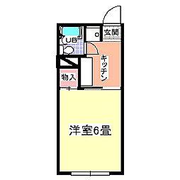 ジュネスハイムA[208号室号室]の間取り