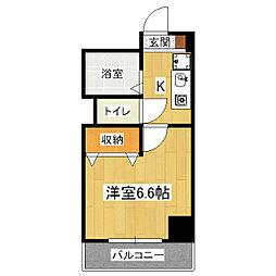 コンフォート桃山[1階]の間取り