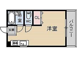 シャルール南茨木[3階]の間取り