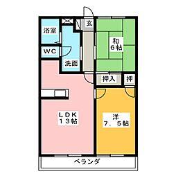 ローズガーデン II[3階]の間取り