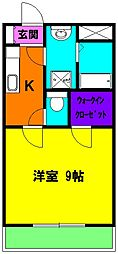 静岡県磐田市明ケ島原の賃貸マンションの間取り