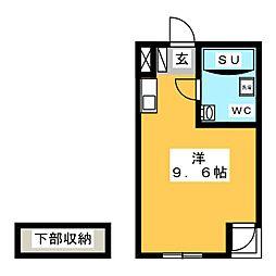 フジメゾン矢作[2階]の間取り