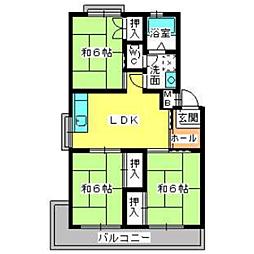 福岡県福岡市早良区原8丁目の賃貸マンションの間取り