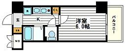 大阪府大阪市中央区南船場1丁目の賃貸マンションの間取り