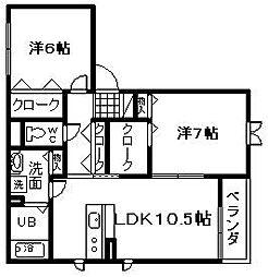 シャーメゾン慧[1階]の間取り