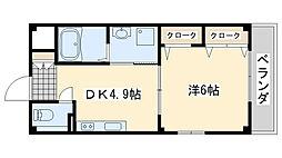 ハイネ福田2[302号室]の間取り
