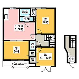 リセスガーデン1[2階]の間取り