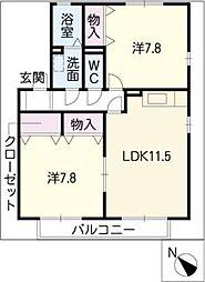桜ファミリー吉根[1階]の間取り