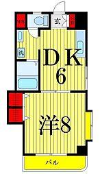 東京都足立区中央本町2丁目の賃貸マンションの間取り