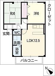 ベルウッド KEI[2階]の間取り