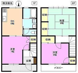 長野県松本市埋橋 2丁目の賃貸アパートの間取り