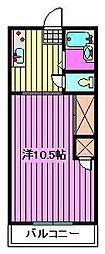 オレンジハウスIII[1階]の間取り
