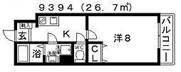 EXハイツ北新町[302号室号室]の間取り