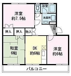 野知マンションB[1階]の間取り