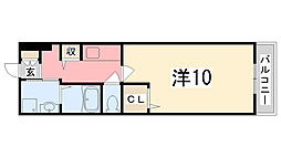 オーキッドフラッツ東加古川[1階]の間取り