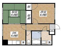 メゾンミホリ[1階]の間取り