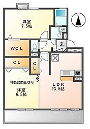 エトワール亀の井[2階]の間取り