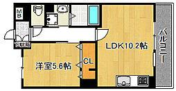 La via背戸口[205号室]の間取り