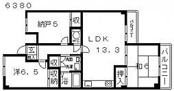 第3高橋ハイツ[208号室号室]の間取り