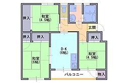 長岡天神ハイツ 14棟204号[2階]の間取り