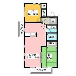 Parc est mitarai B棟[2階]の間取り