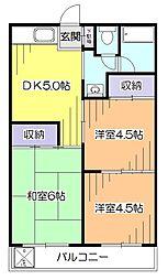 東京都小平市大沼町1丁目の賃貸マンションの間取り